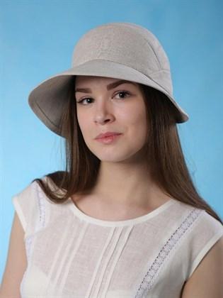 """Шляпа """"Катрин"""" из натурального льна"""