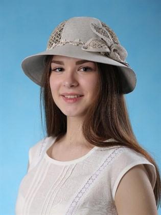 Шляпка женская из натурального льна