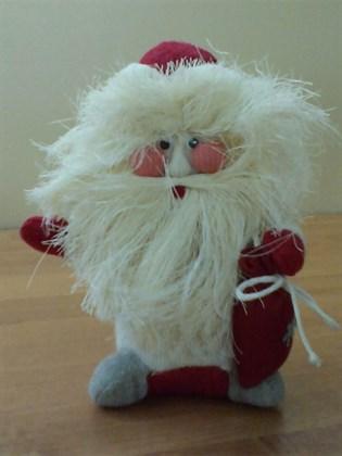 """Игрушка мягкая из льна """"Дед Мороз"""" (маленький)"""