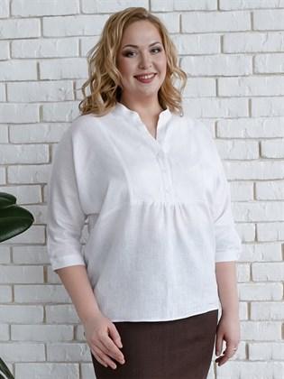 Блузка из льна и хлопка