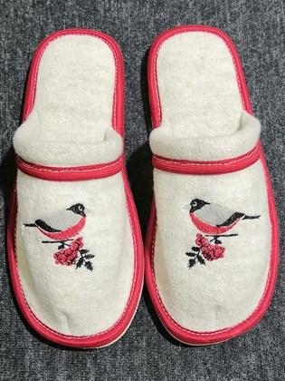 Тапки валяные с закрытым носком
