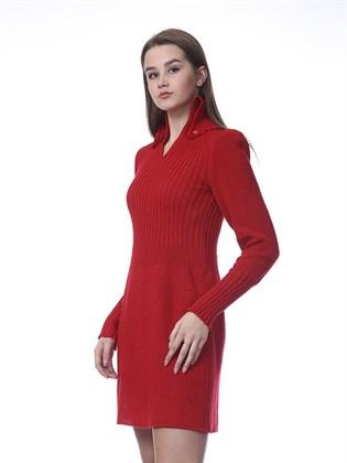 Платье из льна и полушерсти