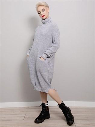 Платье из льна и шерсти
