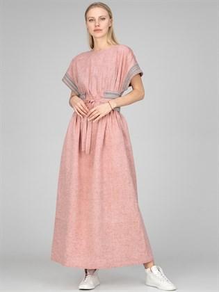 Платье из льна розовое
