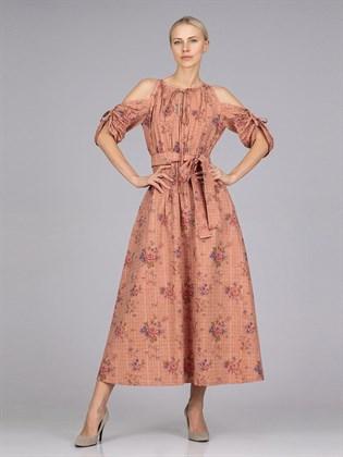 Платье женское из льна