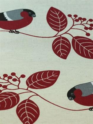 Постельное белье из льна Семейный - Снегири