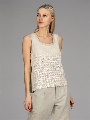 Блуза-топ с кружевом