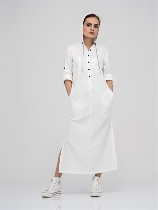 Платье-рубашка жаккардовое