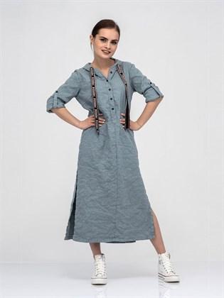 Платье - рубашка из льна