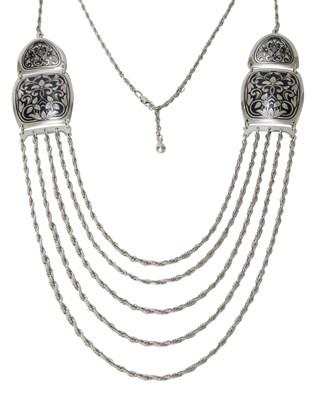 Колье серебряное Пенелопа