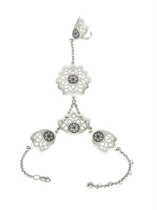 Слейв-браслет серебряный Снежинка