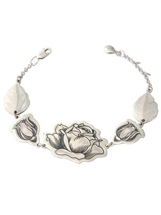 Браслет серебряный Роза