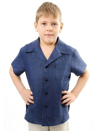 Рубашка изо льна для мальчика