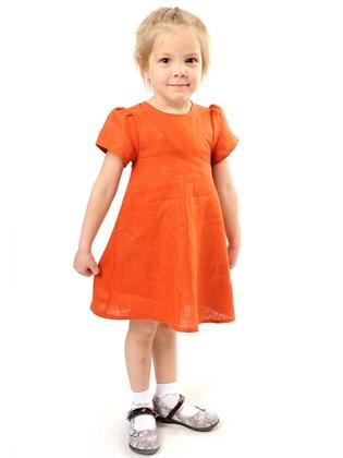 Платье для девочки льняное
