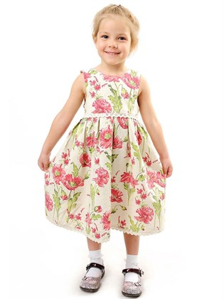 Платье льняное для девочки