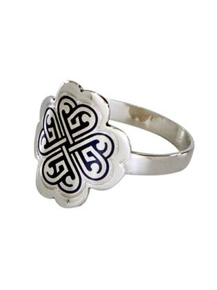 Серебряное кольцо На удачу