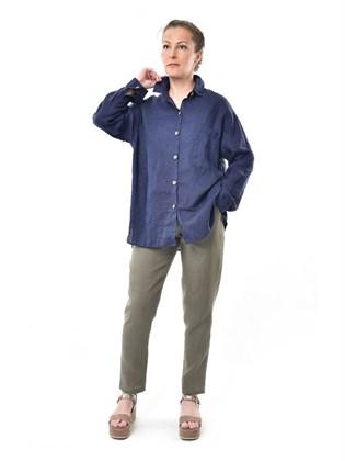 Блузка - рубашка изо льна