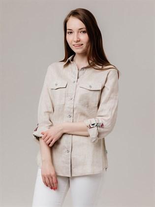 Женская льняная рубашка