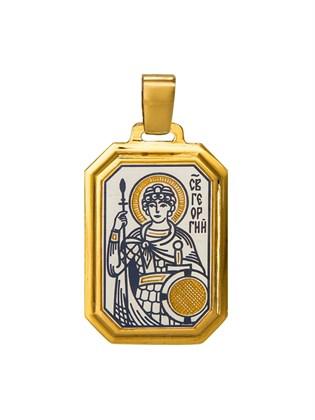 Подвеска серебряная Георгий Победоносец