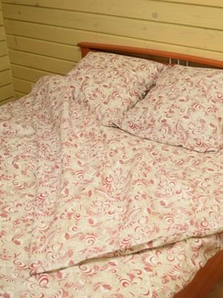 """Комплект постельного белья """"Петухи"""" красно-белые - двуспальный"""