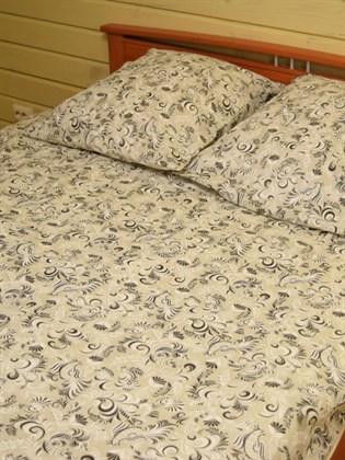"""Комплект постельного белья """"Петухи"""" черно-белые - двуспальный"""