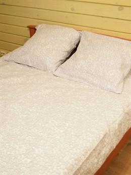 Комплект постельного белья комбинированный ЦВЕТЫ - евро