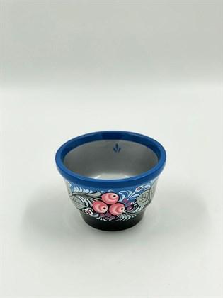 Чашка 130х80 роспись по серебру