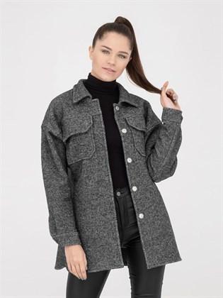 Полупальто-рубашка из вареной шерсти