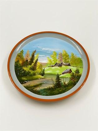Тарелка большая (сложный пейзаж)