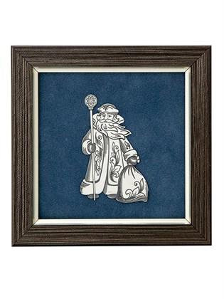 "Декоративное панно из серебра ""Дед Мороз"""