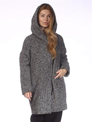 Пальто на подкладке с капюшоном