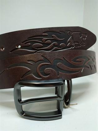 Ремень из натуральной кожи Огненный стиль