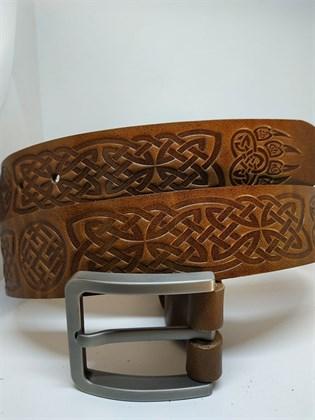 Ремень из натуральной кожи Славянский стиль