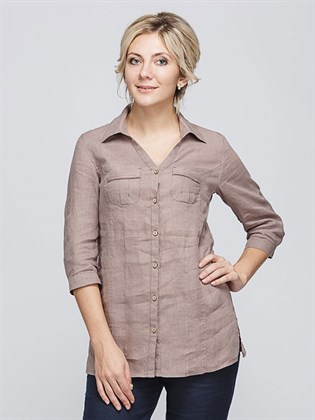 Льняная женская рубашка