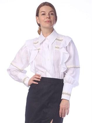 Блузка женская льняная