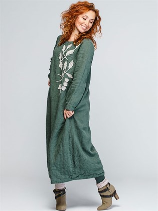 Платье женское льняное