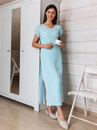 Платье льняное с разрезами