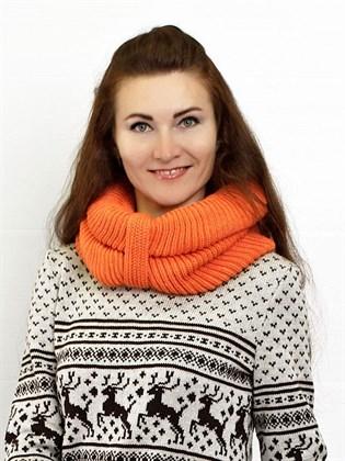 Вязаный шарф - снуд