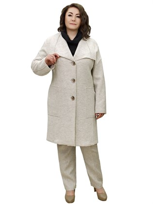 Пальто из валяного полотна