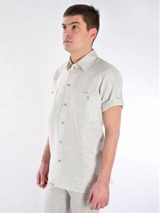 Рубашка мужская изо льна
