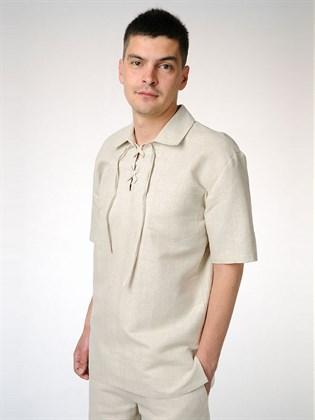 Рубашка мужская льняная