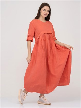 Платье из льна и хлопка