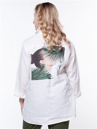 Рубашка льняная женская