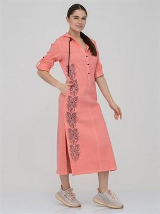 Платье - рубашка с капюшоном