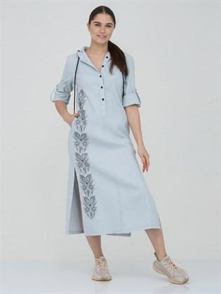 Платье - рубашка из льна и хлопка