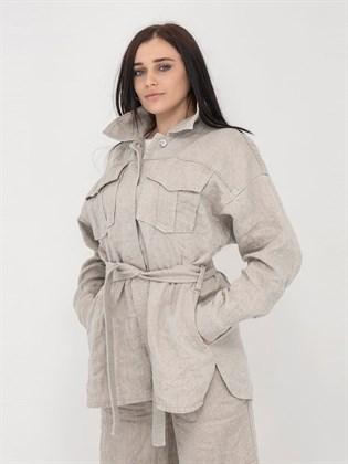 Куртка-рубашка из льна