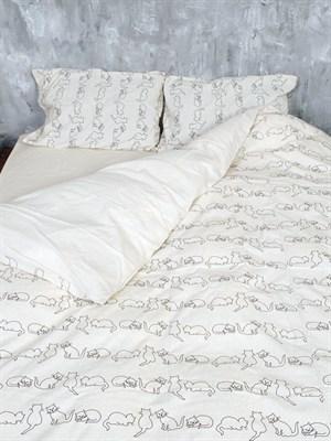 Постельное белье двуспальный льняной