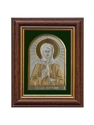 Икона серебряная Блаженная Матрона