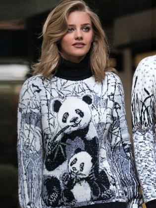 Свитер женский с пандами