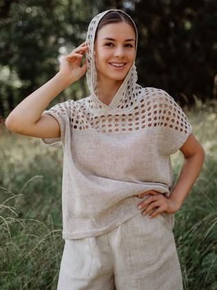 Джемпер женский из льна
